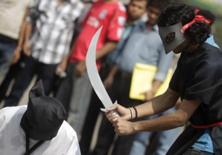 Mock execution in Bangladesh [illustrative]