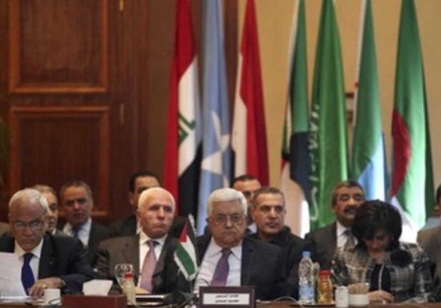 Abbas at Arab League in Cairo