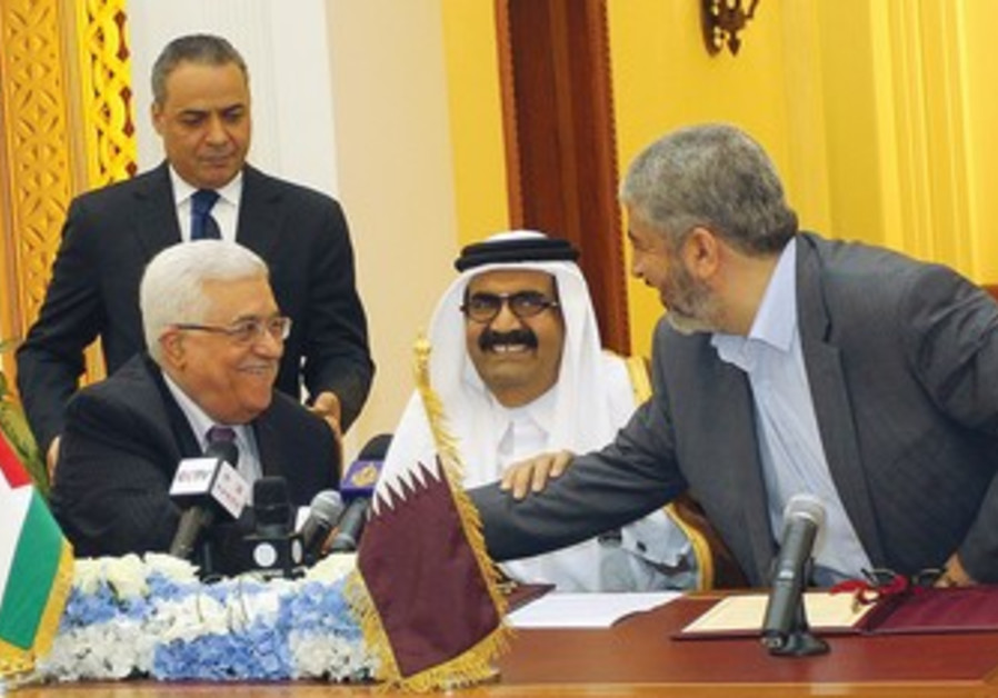 Abbas, Mashaal, Qatar's Emir Sheikh Hamad