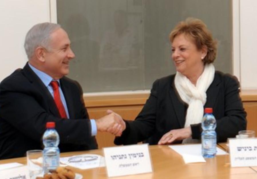 PM Netanyahu and High Court president Beinisch