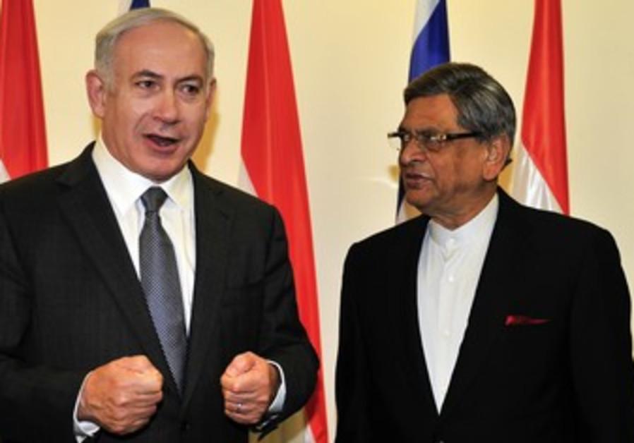 Netanyahu, India FM SM Krishna