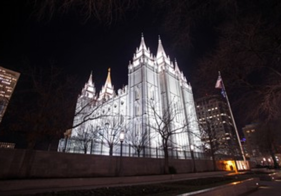 Mormon Temple in Salt Lake City, Utah