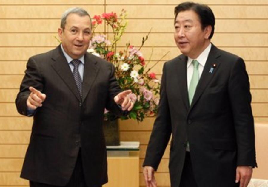 Barak meets Japanese PM Noda