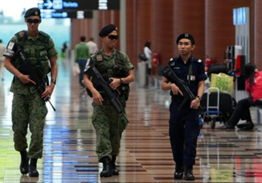 Singapore soldiers patrolling [illustrative]