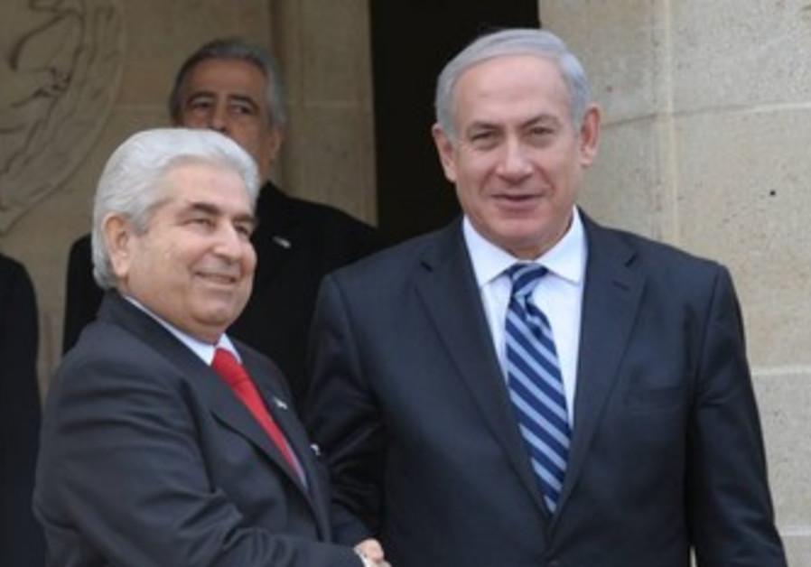 PM Netanyahu with Cyprus Pres Dimitris Christofias