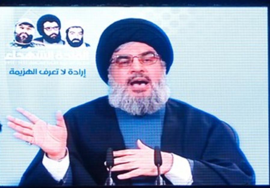 Hezbollah leader Nasrallah speaks to supporters