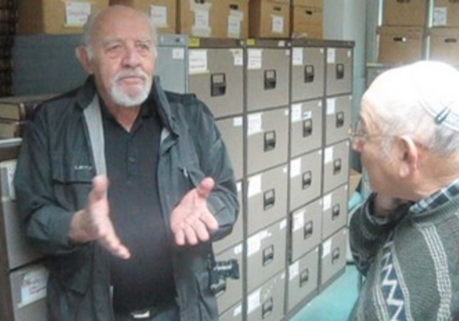 David Rubinger with Chaim Collins