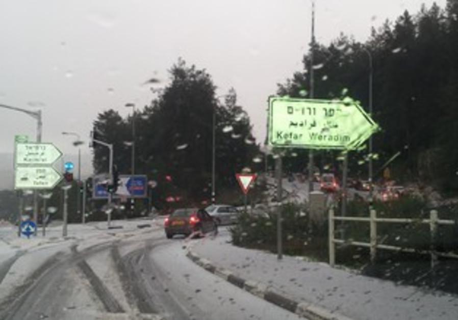 snow near kfar weradim