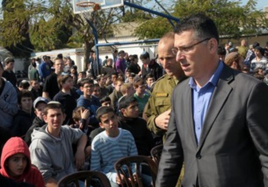 Gideon Sa'ar, Maj.-Gen Eyal Eisenberg, kids