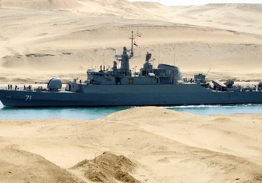 Iran navy ship travels through Suez Canal [file]