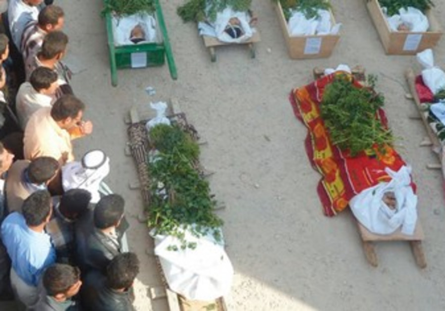 opposition activists at funeral in Hala,