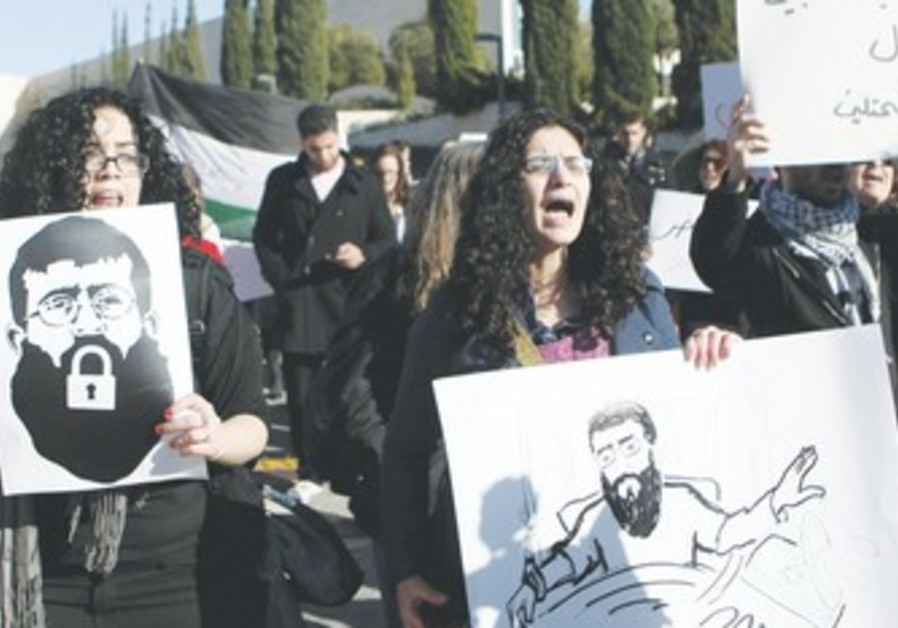 Protests demand Khader Adnan be released