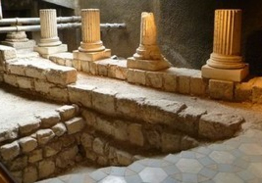 Ancient Jerusalem mosaic floor found in the recept