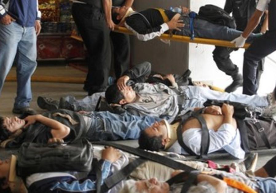 Vicitms in Argentine train crash