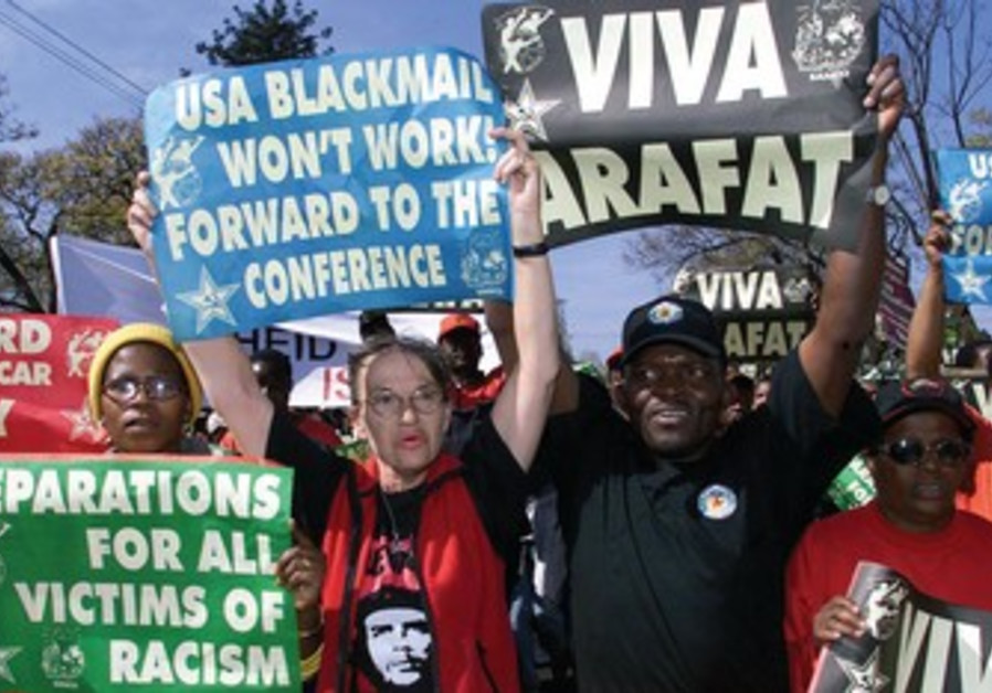 Protestors at Durban conference, 2011