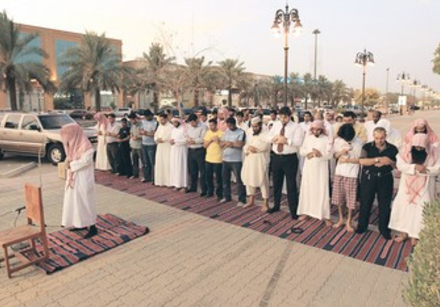 Religious police in Ryiadh, Saudi Arabia