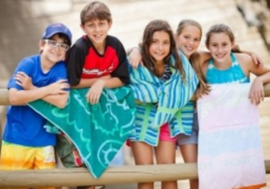 Campers at Camp Ramah in New England