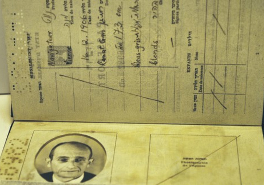 A forged Israeli passport used in Eichmann op