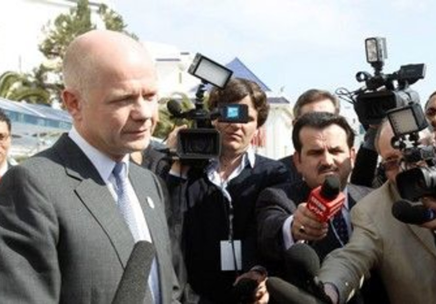 British Foreign Secretary William Hague in Tunisia