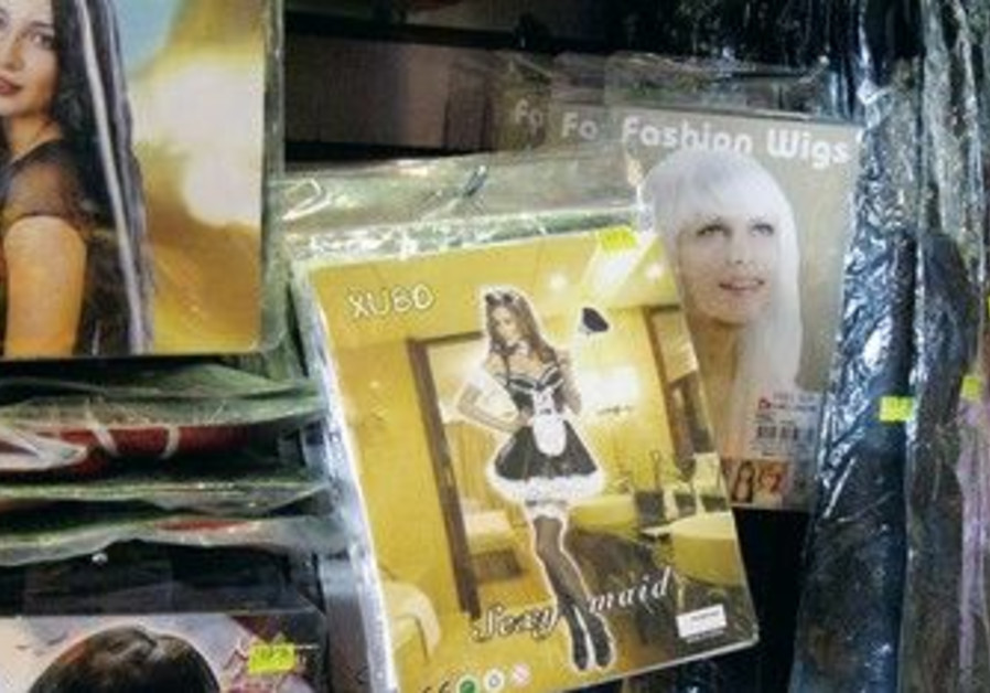 'Sexy' maid in Israel' costumes