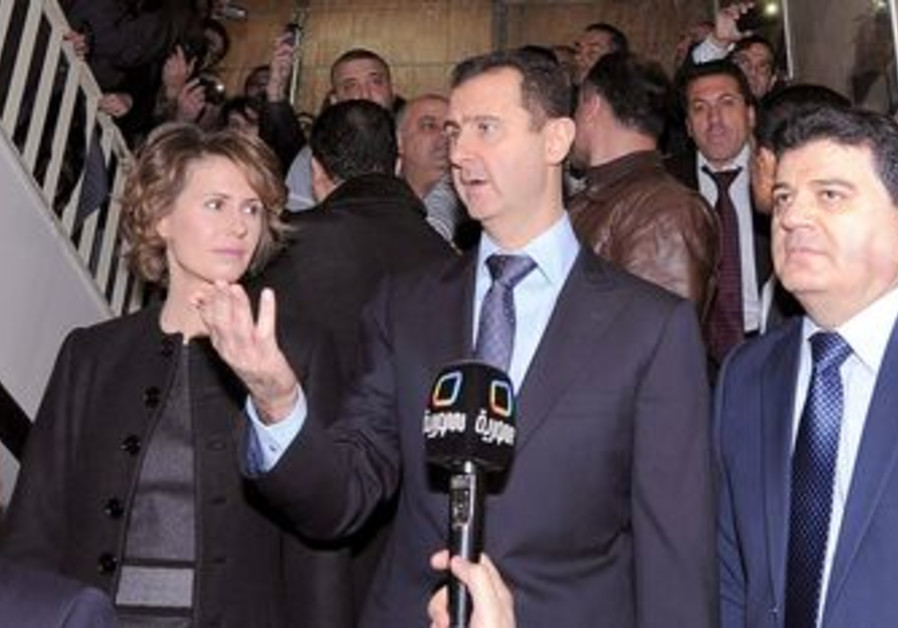 Syrian President Bashar Assad at polling station