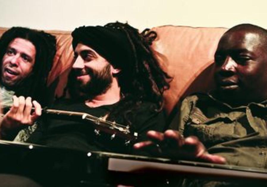 Yossi Fine (left), Idan Raichel, Vieux Farka Touré