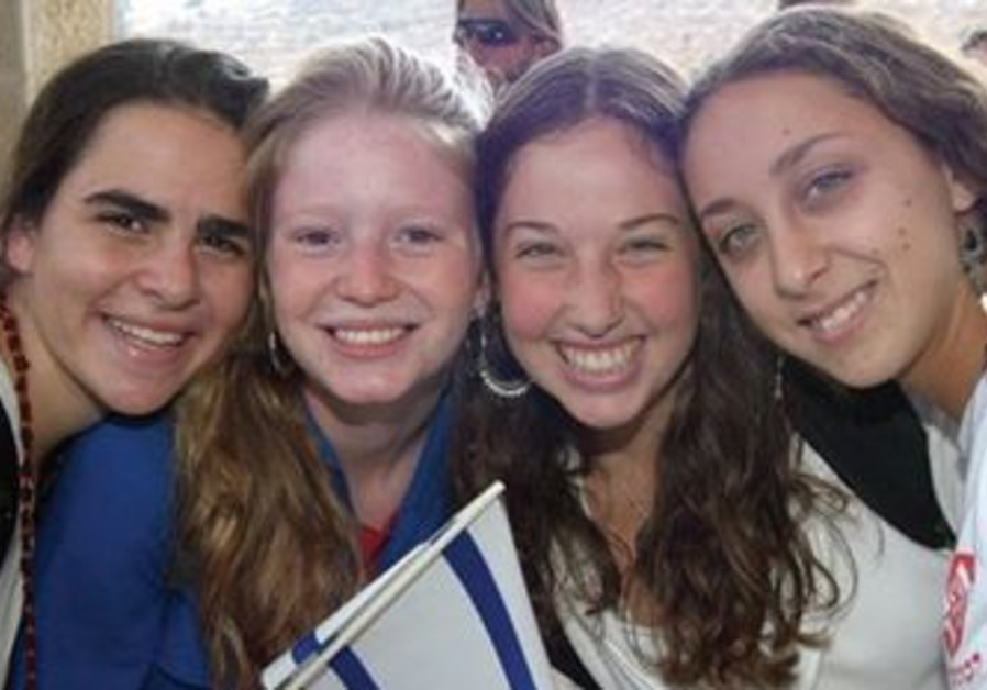 US students on a Masa trip to Israel