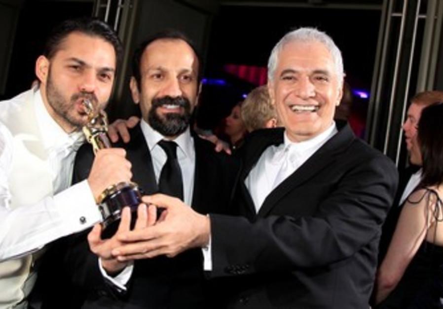 'A Separation' director Asghar Farhadi (C)