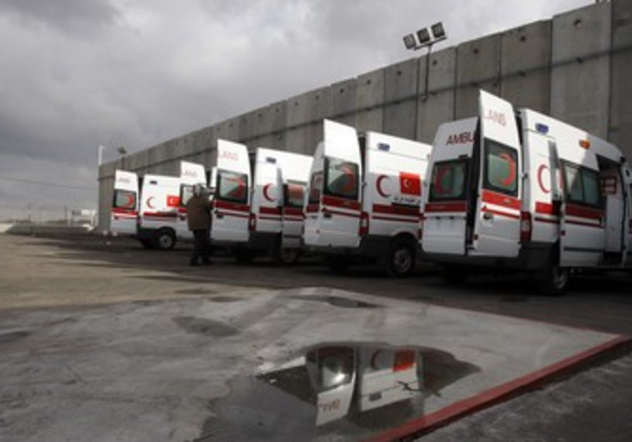 Palestinian Red Crescent ambulances [file]