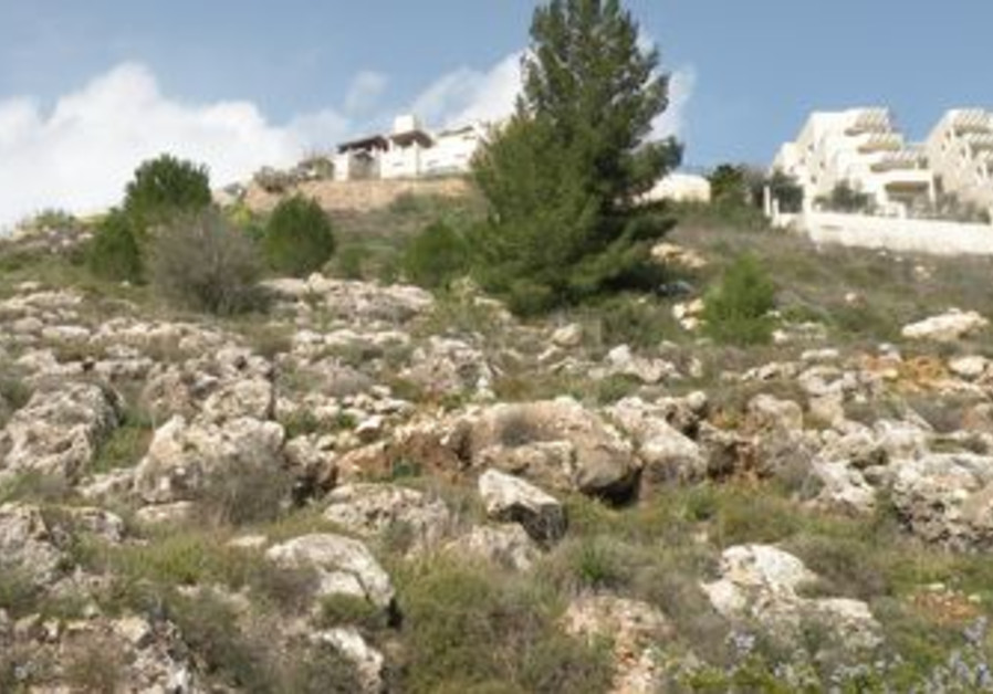 Looking up at Givat Masua