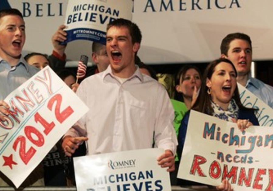 Romney fans in Michigan