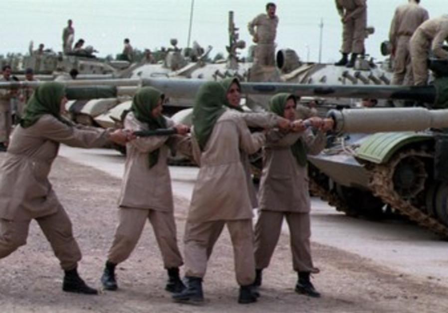 Women mujahedeen in Iranian exile Camp Ashraf 
