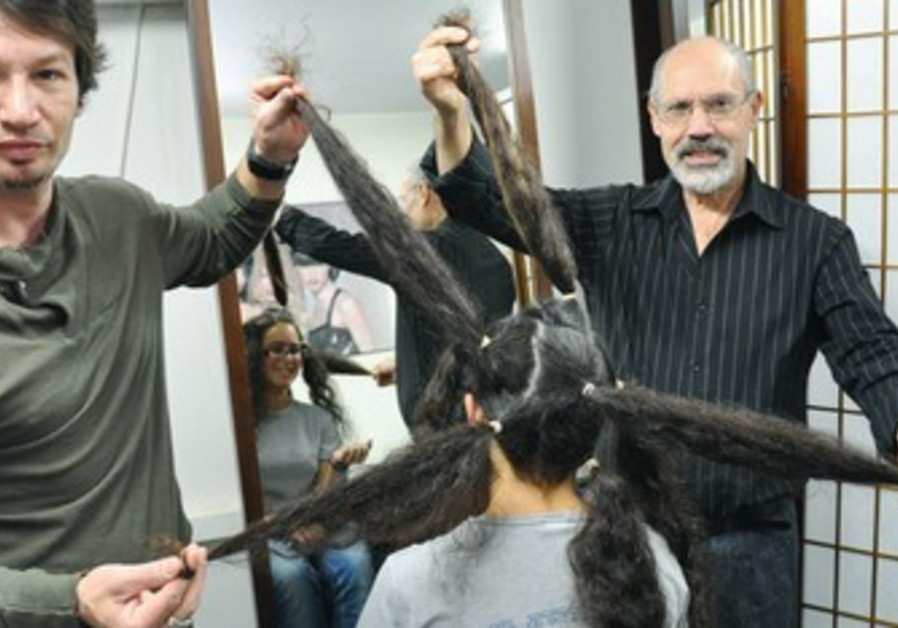 LIRON POLLACK donates hair