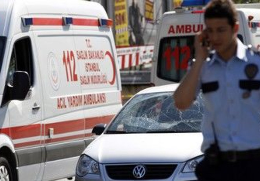 Turkish police after Istanbul blast [file]