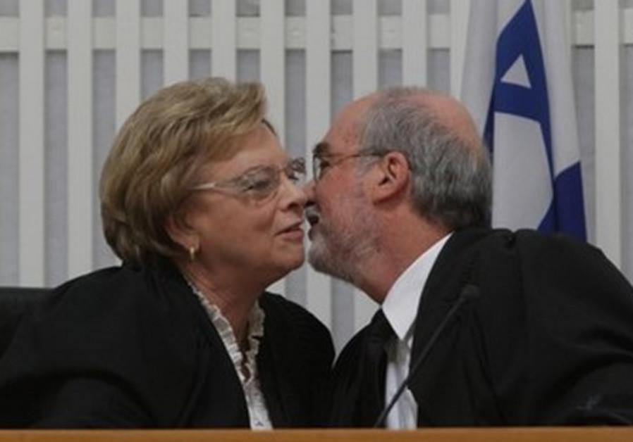 Supreme Court's Dorit Beinisch, Asher Dan Grunis.