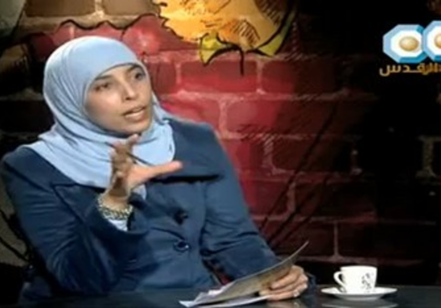 Hamas terrorist Ahlam Tamimi hosts a talk show.