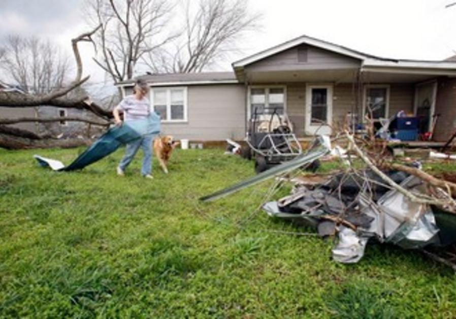 Tornado damage in New Market, AL