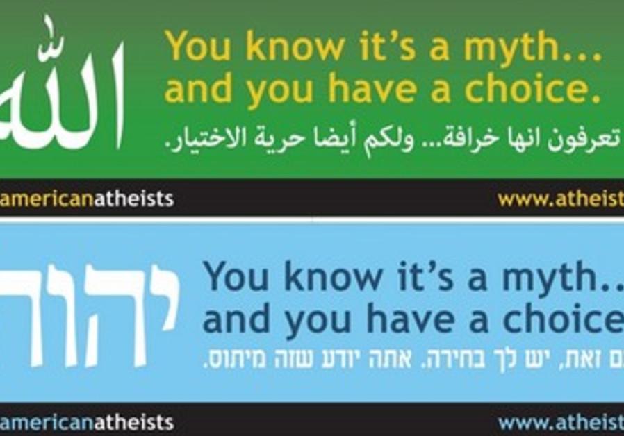 American Atheists' advertising billboards.