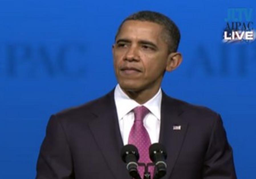 US President Barack Obama at AIPAC Conference