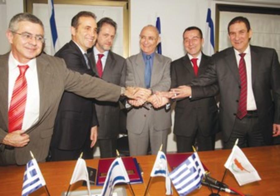 Israeli, Greek, Cypriot officials