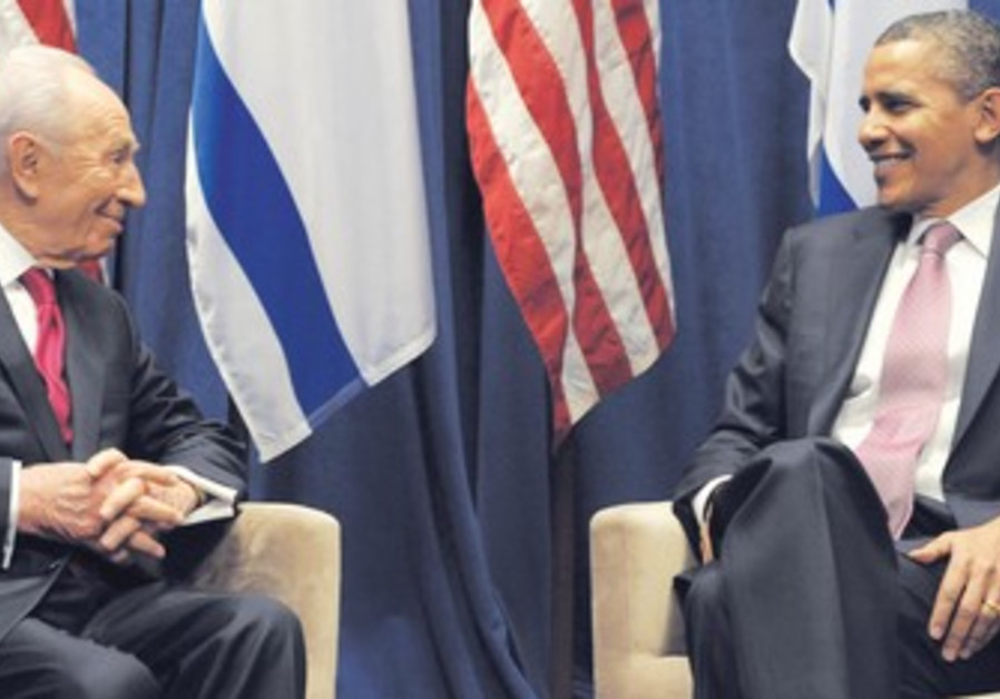 Peres meets with Obama after both addressed AIPAC