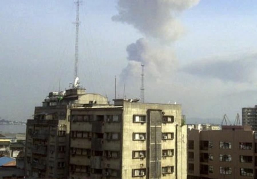 Smoke rises in Republic of Congo's capital