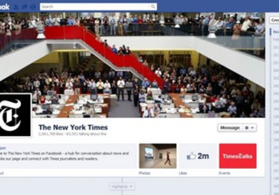 The New York Times' new Facebook page