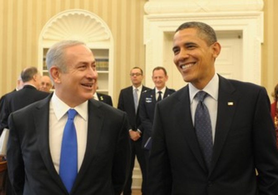 Netanyahu meets Obama in Washington.