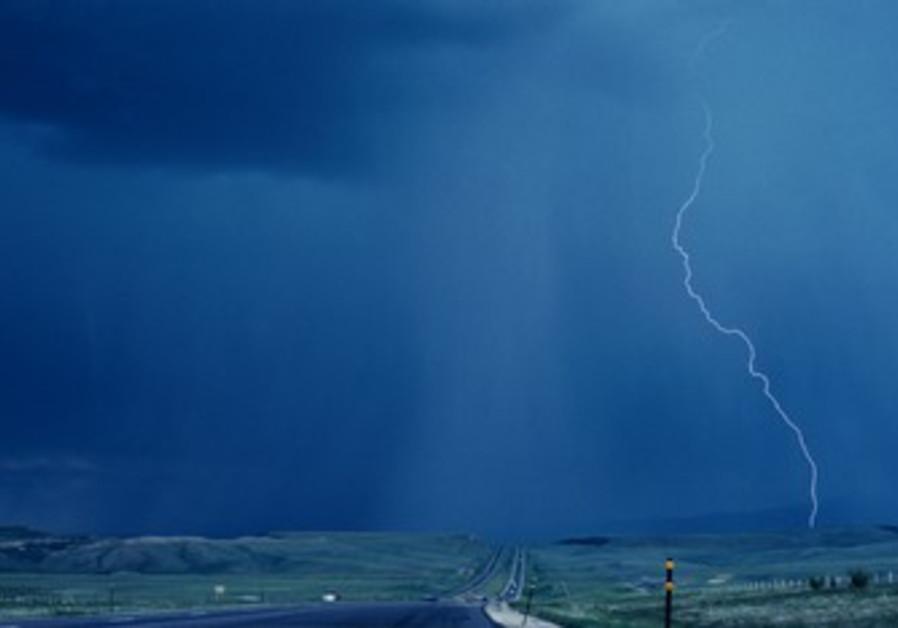 Rain and lightning [illustrative]