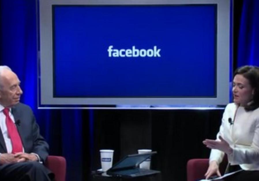 President Shimon Peres in Facebook interview 390