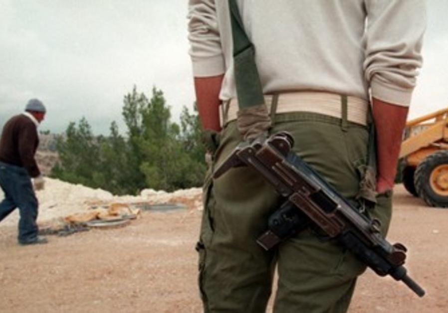 IMI-manufactured Uzi sub-machinegun