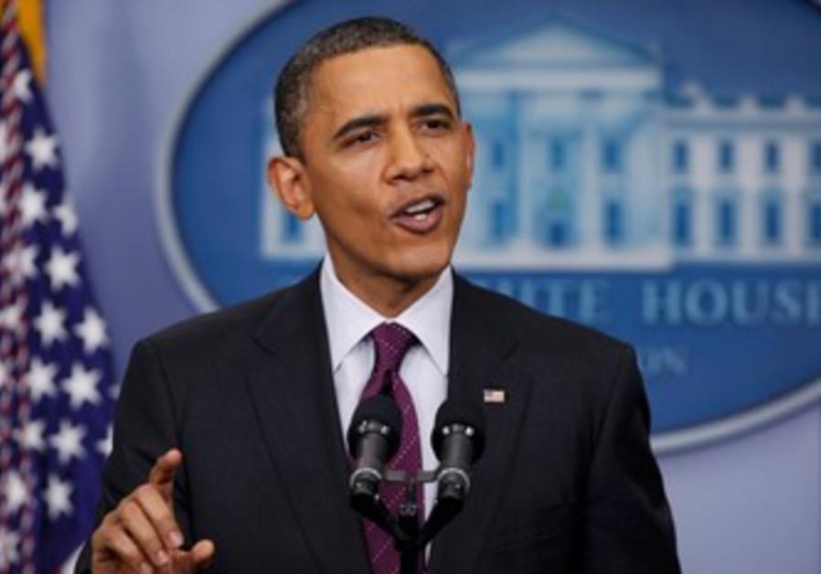 US President Barack Obama at press conference