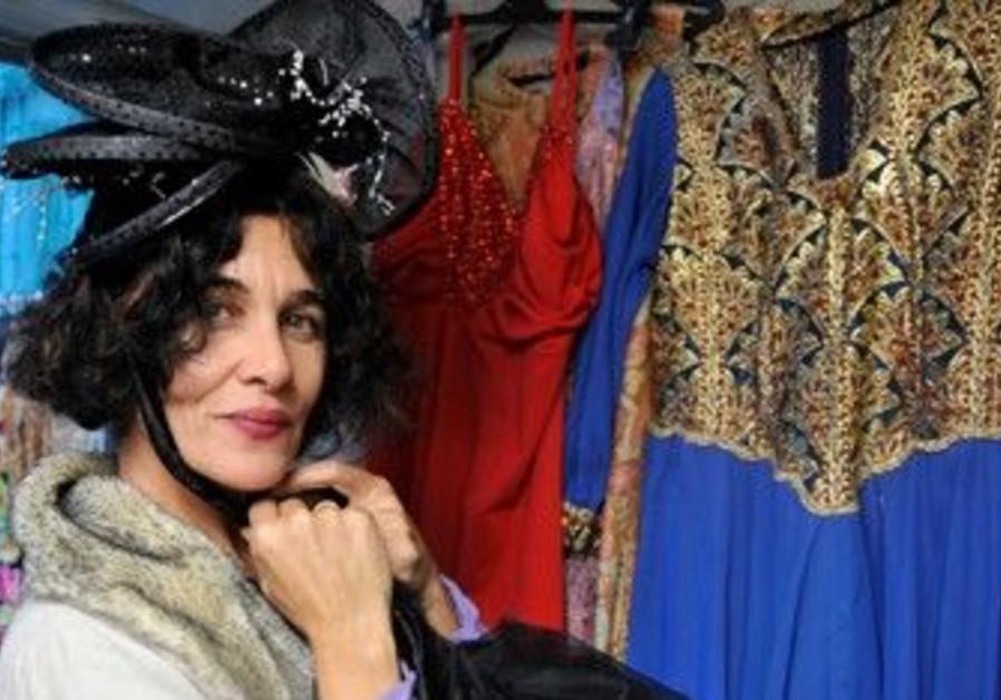 Costume designer Batia Rozental in her TA shop