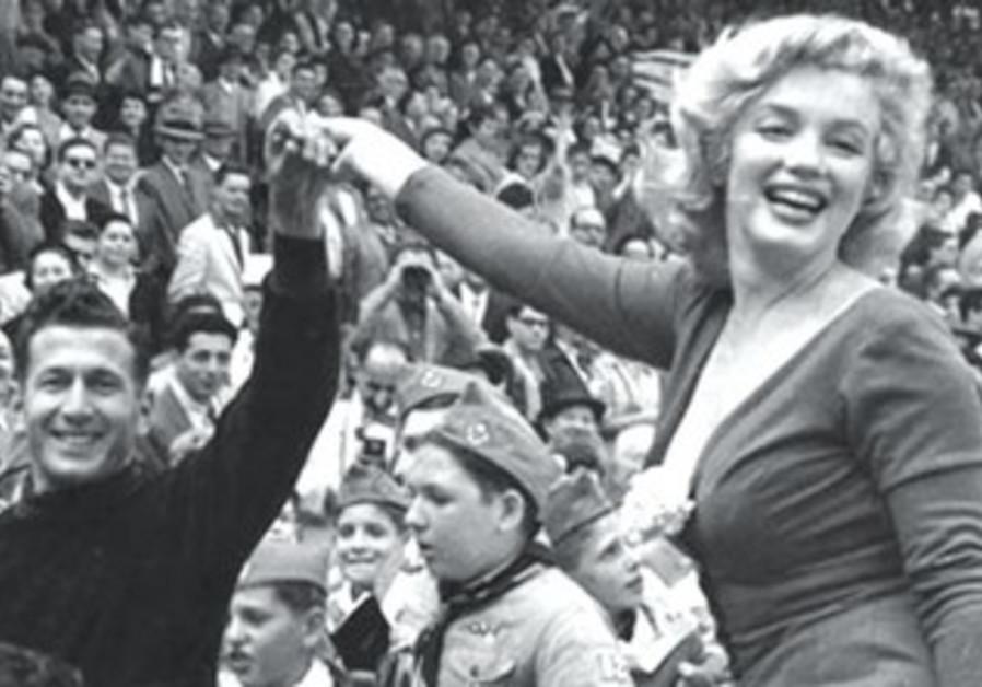 Marilyn Monroe and Ya'acov Hodorov of Hapoel TA